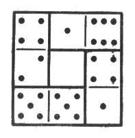 рис. 6. сложив очки на каждой стороне квадратика, во всех случаях получите 11