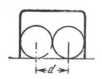 рис. 19. центр шара не должен приближаться к проволоке ворот меньше чем на величину радиуса