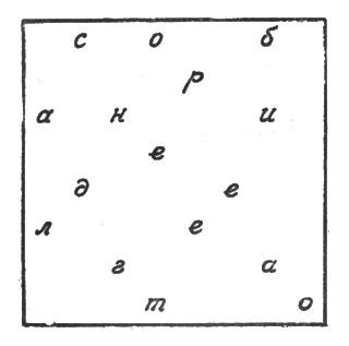 рис. 42. сняв решетку, увидим запись