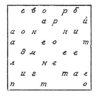 рис. 43. пишем затем следующие 16 букв