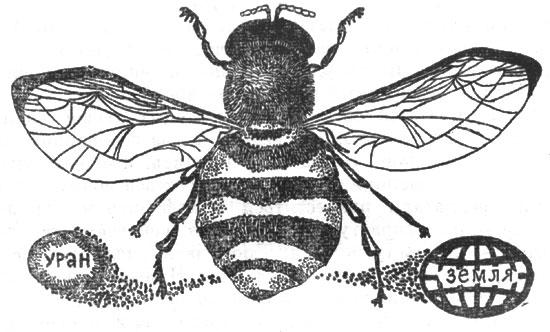 рис. 54. потомство мухи за одно лето можно было бы вытянуть в линию от земли до урана