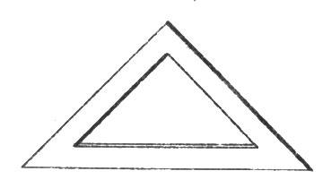 рис. 75. подобны ли наружный и внутренний треугольники?