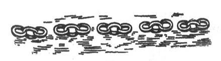 рис. 91. нить обрывков цепи