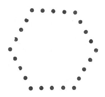 рис. 104. требованию задачи легко удовлетворить, если расставить людей в форме шестиугольника